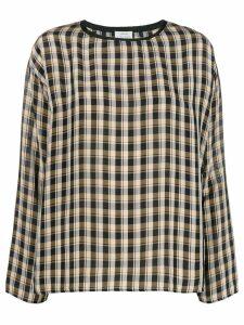 Forte Forte check long-sleeve blouse - Black