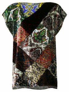 Pierre-Louis Mascia patchwork printed blouse - White