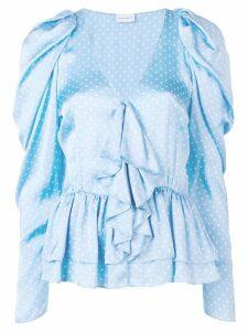 Magda Butrym Cefalu dotted ruffle blouse - Blue