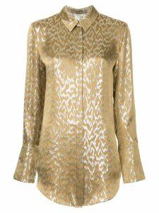 Layeur longsleeved printed blouse - Metallic