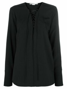 Stella McCartney deep v neck blouse - Black