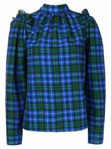 MSGM tartan blouse - Blue