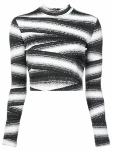 Nicole Miller bandage stripe top - Black