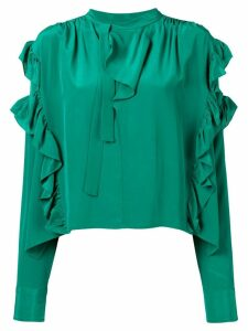 Isabel Marant frilled loose blouse - Green