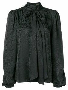 Saint Laurent neck-tied long sleeve blouse - Black