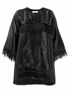 Marni oversized fringe blouse - Black