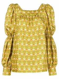 La Doublej peasant blouse - Yellow