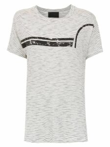 Andrea Bogosian t-shirt with front striped front detail - Grey