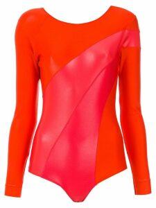 À La Garçonne panelled bodysuit - Red