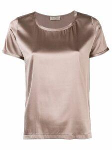 Blanca round neck blouse - Brown