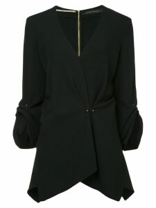 Roland Mouret Bacall draped asymmetric blouse - Black