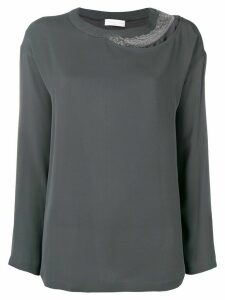 Fabiana Filippi embellished detail blouse - Grey