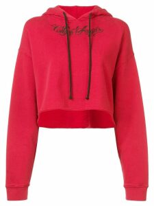 Adaptation cropped hoodie - Red