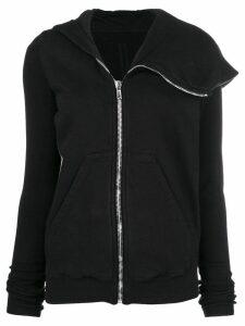 Rick Owens DRKSHDW asymmetric full-zip hoodie - Black
