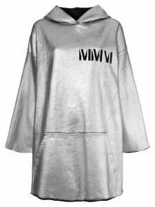 Mm6 Maison Margiela long hoodie - Grey