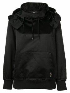 UNDERCOVER ruffle detail hoodie - Black