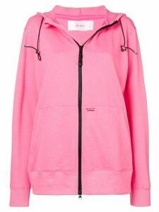 Julien David zip-front hoodie - Pink