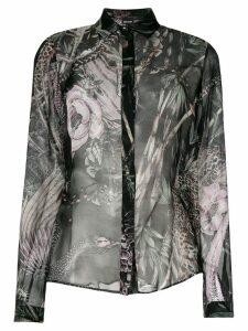 Just Cavalli New World print shirt - Black