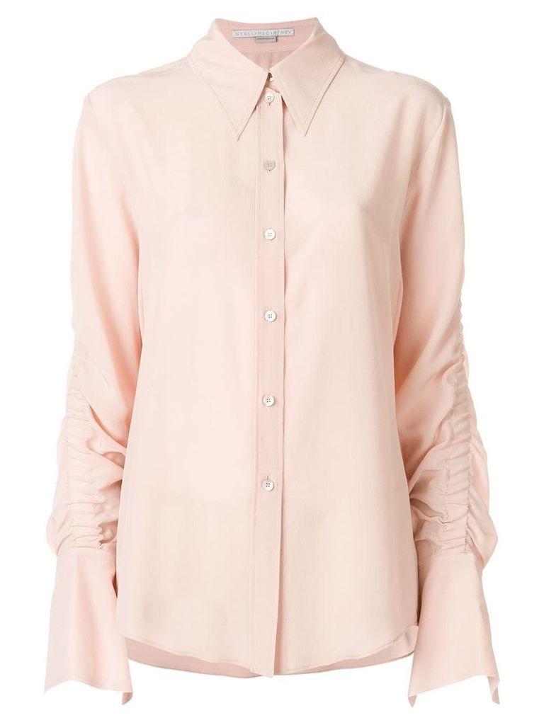 Stella McCartney gathered sleeve shirt - Pink