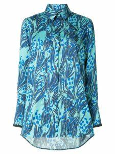 Victoria Victoria Beckham concealed front shirt - Blue