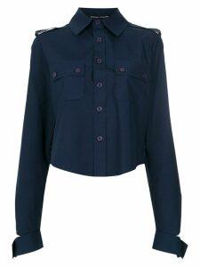 Gloria Coelho cropped shirt - Blue