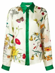 Gucci Flora print shirt - White