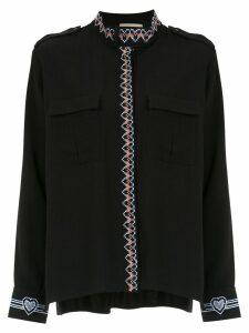 Andrea Bogosian embroidered shirt - Black