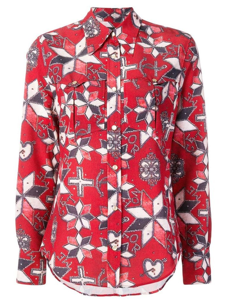 Isabel Marant geometric print shirt - Red