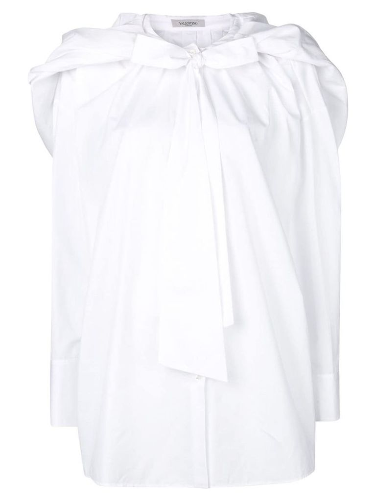 Valentino bow button down shirt - White