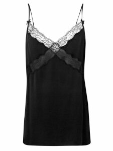 Michael Kors Collection lace trimmed slip top - Black