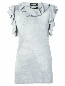 Dsquared2 ruffled tank top - Grey
