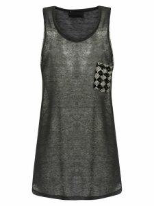 Andrea Bogosian embroidered tank - Grey