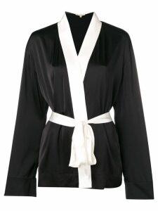 Gold Hawk monochrome robe - Black