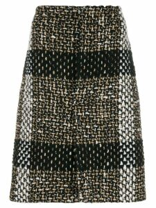 Gianluca Capannolo woven midi skirt - Brown