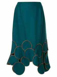 Kolor patchwork trim midi skirt - Blue