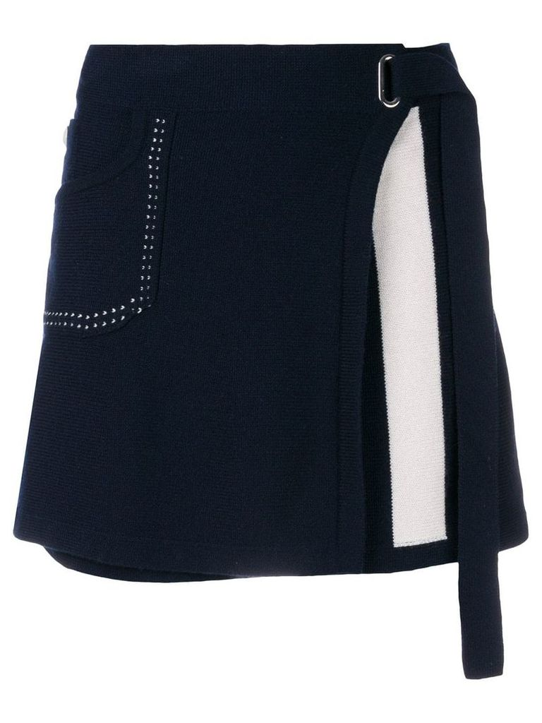 Barrie Cosmopolitan cashmere wrap skirt - Blue