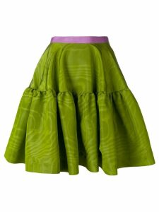 Talbot Runhof tiered A-line skirt - Green