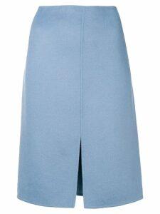 Odeeh slit front midi skirt - Blue