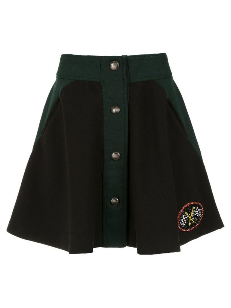 Andrea Bogosian embroidered skirt - Black