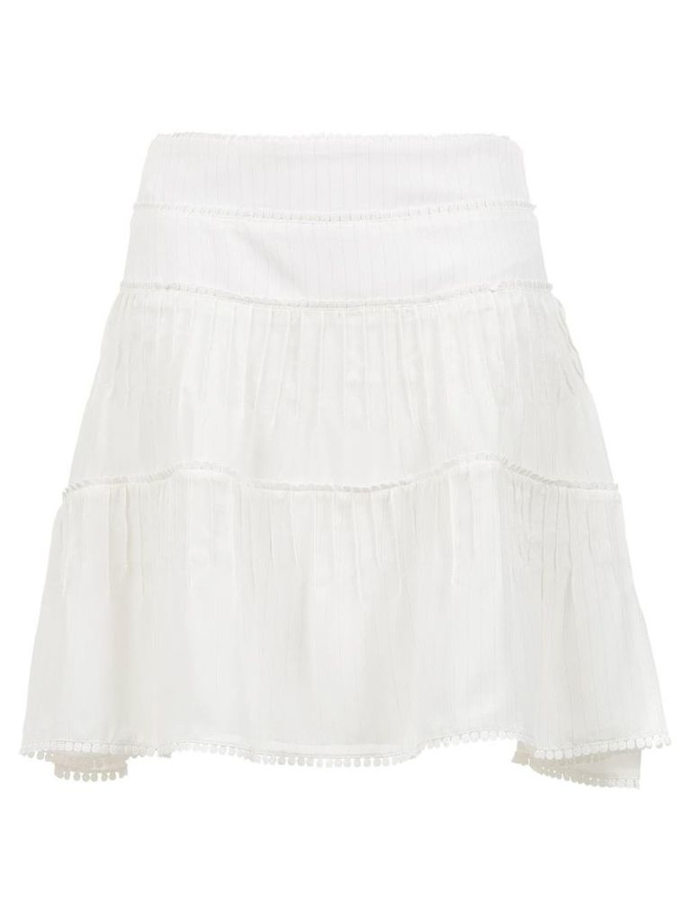 Olympiah Riva flared skirt - White