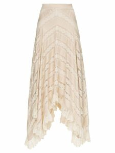 Zimmermann Unbridled Chevron Panel Skirt - Neutrals