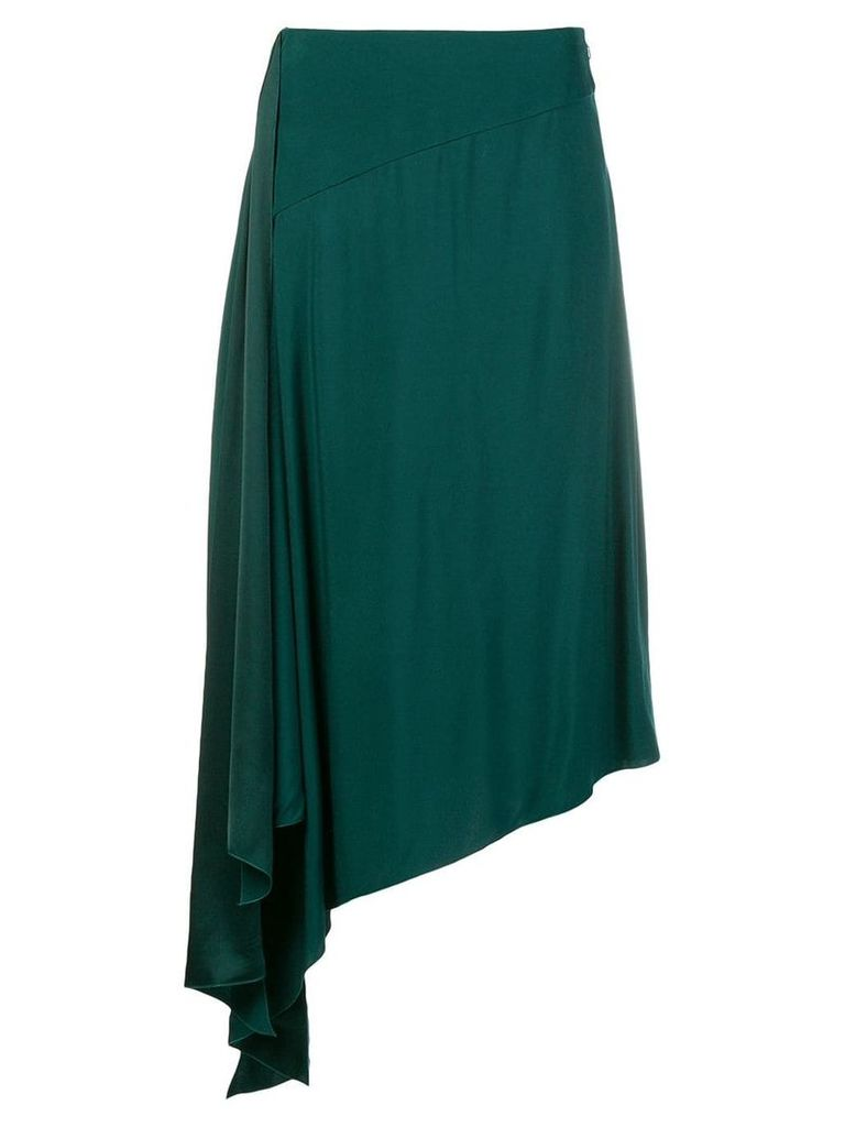 Givenchy asymmetrical midi skirt - Green