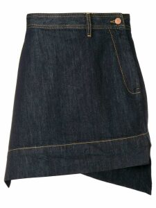 Vivienne Westwood Anglomania asymmetric denim skirt - Blue