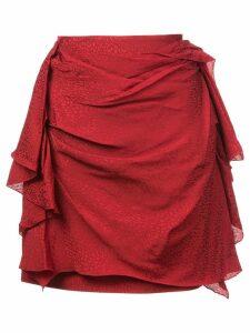 Carmen March draped mini skirt - Red