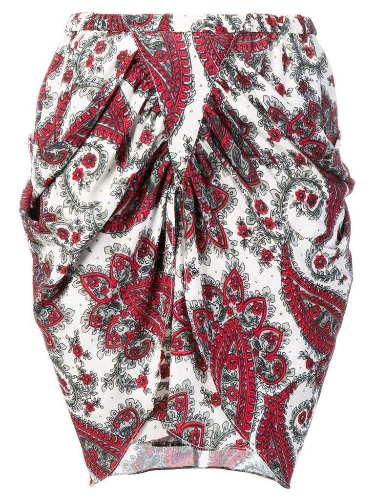 Isabel Marant draped skirt - White