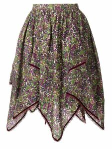 Dsquared2 floral print handkerchief skirt - Green
