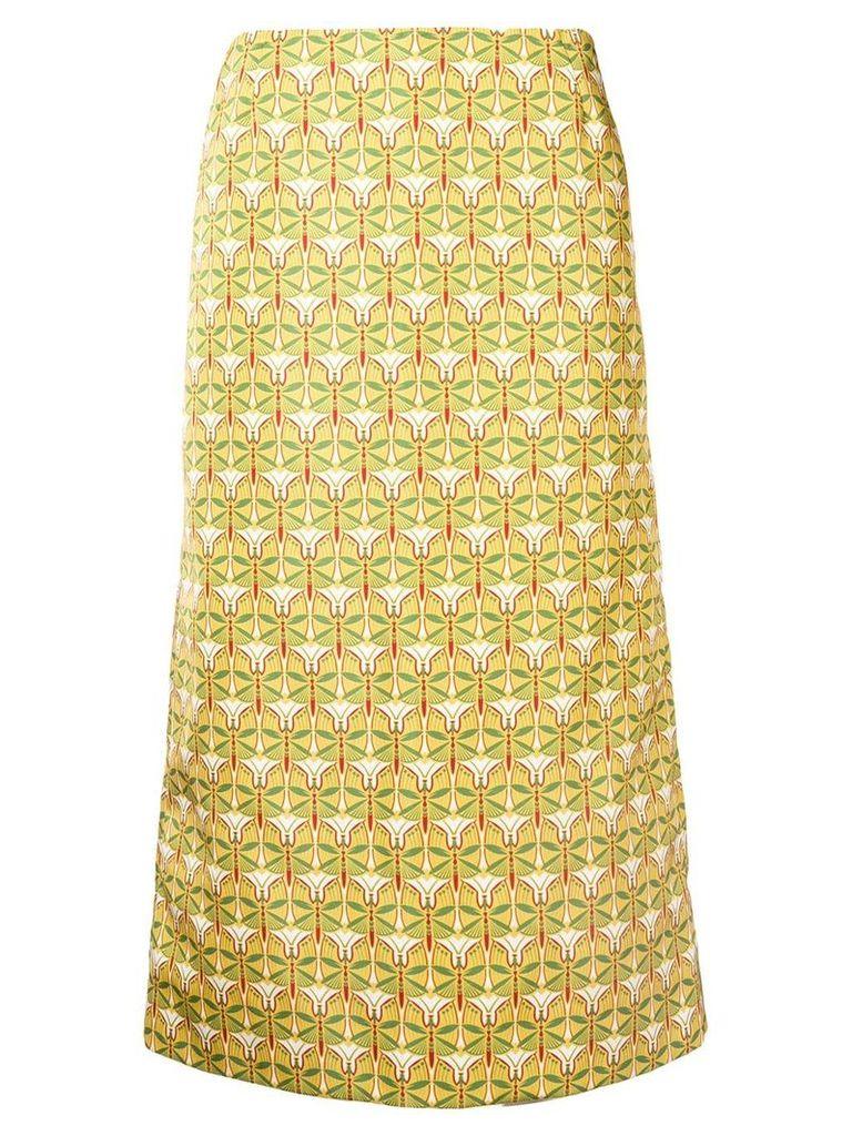 La Doublej geometric pencil skirt - Yellow