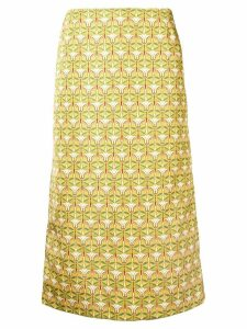 La Doublej geometric pencil skirt - Yellow