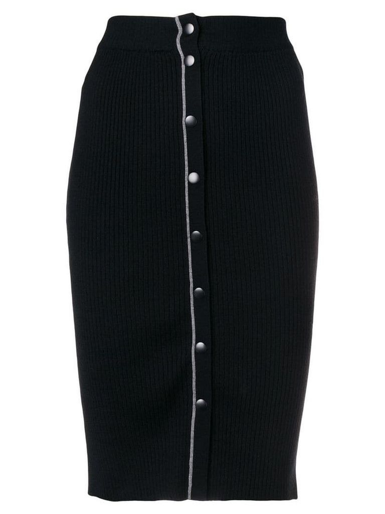 T By Alexander Wang stretch fit skirt - Black
