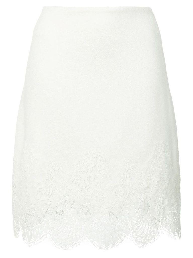 Ermanno Scervino lace trim skirt - White